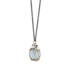 "Blue Topaz ""Luck"" Frog Necklace"