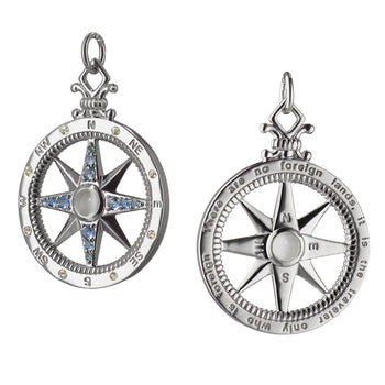 """Travel"" Global Compass Charm"