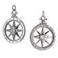 """Travel"" Global Compass Charm with Sapphires"