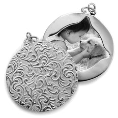 Vine Pattern Half Locket Charm