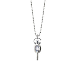Miniature Oval Pocketwatch Key Necklace