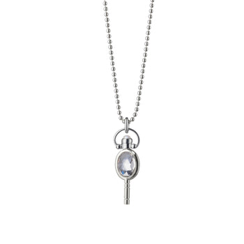 Mini Oval Pocket Watch Key Necklace