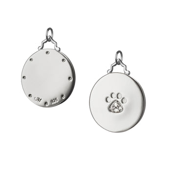 Paw Print Charm with Sapphires