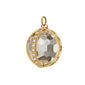 "18K Yellow Gold Extra Large ""Carpe Diem"" Charm with Pave Diamonds"