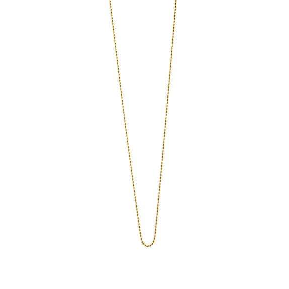 "18K Yellow Gold ""Jordie"" Delicate Ball Chain"