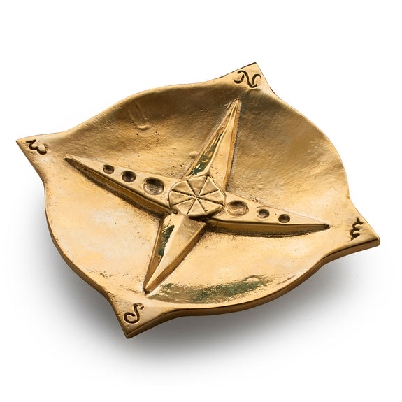 """Travel"" Compass Table Charm a decorative piece in brass"