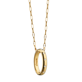 """Dream"" Diamond Poesy Ring Necklace"