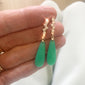Waterfall Earrings with Chrysoprase and Diamonds