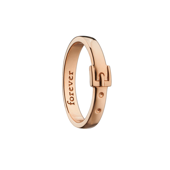 """Forever"" Buckle Poesy Ring"