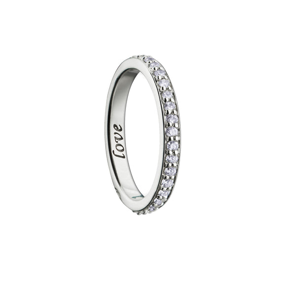 """Love'' Diamond Poesy Ring"