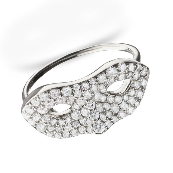 Unmasked™ Diamond White Gold Ring | Monica Rich Kosann