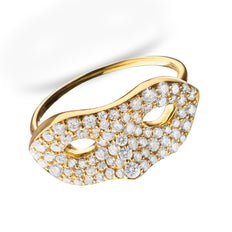 Unmasked™ Diamond Yellow Gold Ring