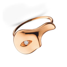 Unmasked™ Half Mask Rose Gold Ring