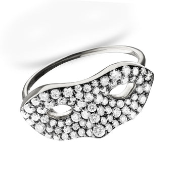 Unmasked™ Diamond White Gold Ring, Blackened Setting