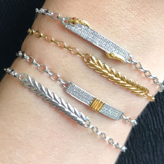 """Breathe"" Leaf Poesy Bracelets and Two-Tone Poesy Bracelets"