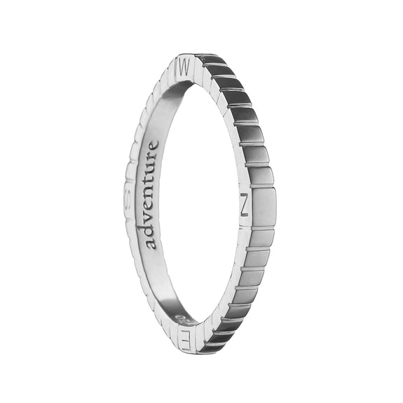 """Adventure"" Compass Poesy Ring"