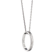 """I Love You More"" Engraved Poesy Ring Necklace"