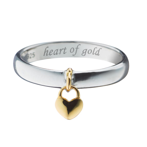 """Heart of Gold"" Poesy Ring"