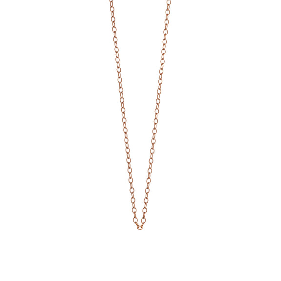 18K Rose Gold Oval Link Chain, 30""