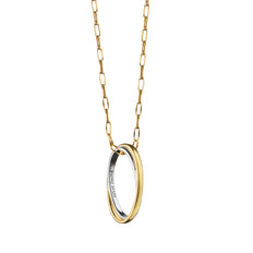 """Silver Lining"" Poesy Ring Necklace, 17"" Yellow Gold Chain"