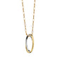 """Silver Lining"" Poesy Ring Necklace on a Yellow Gold Chain"