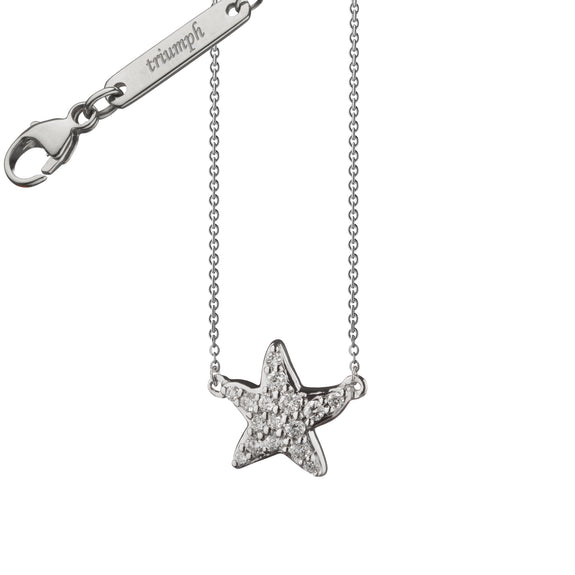 "Diamond Critter Starfish ""Triumph""  Charm Necklace"