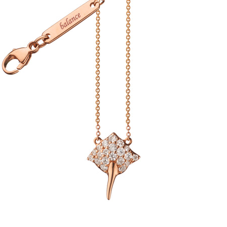 "Diamond Critter Stingray ""Balance"" Charm Necklace"