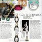 Town and Country Magazine featured our Black Ceramic Link Bracelet in 18K gold with diamond accents