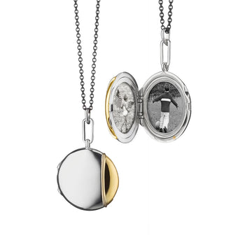 Round Two-Tone Locket