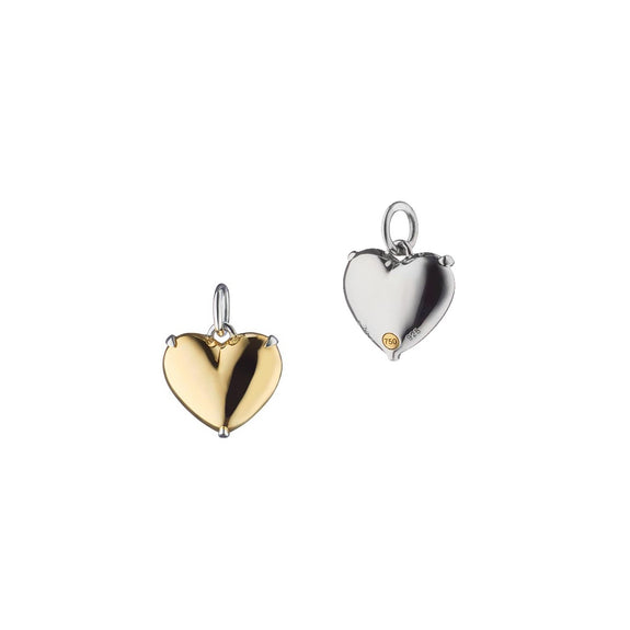 """Heart of Gold"" Two-Tone Charm"