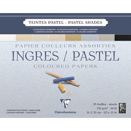 Clairefontaine Ingres Pastel Assorted Colours Pad