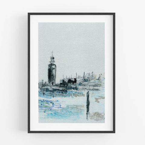 London Parliament View Print