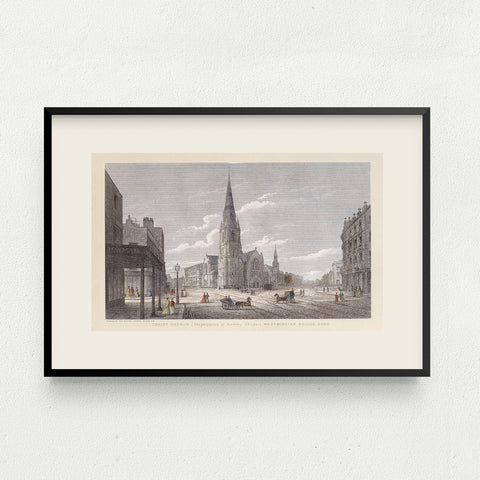 Christ Church, Westminster Bridge Road Mounted Print