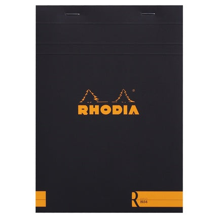 Rhodia Stapled Lined Notepad with Ivory Paper