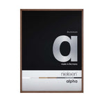 Nielsen dark brown metal and wood alpha readymade frame