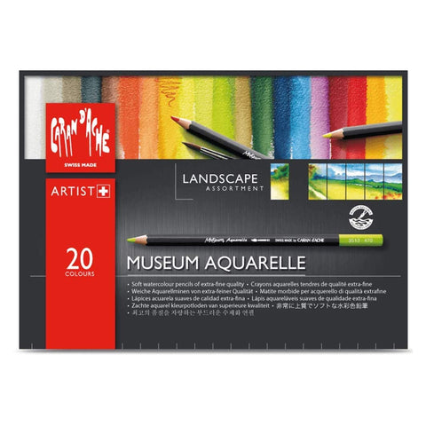 Caran D'Ache Museum Aquarelle Landscape Pencil Set of 20