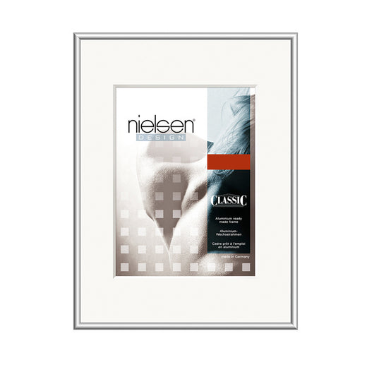 Nielsen Classic Aluminium Metal Readymade Frame Frosted Silver