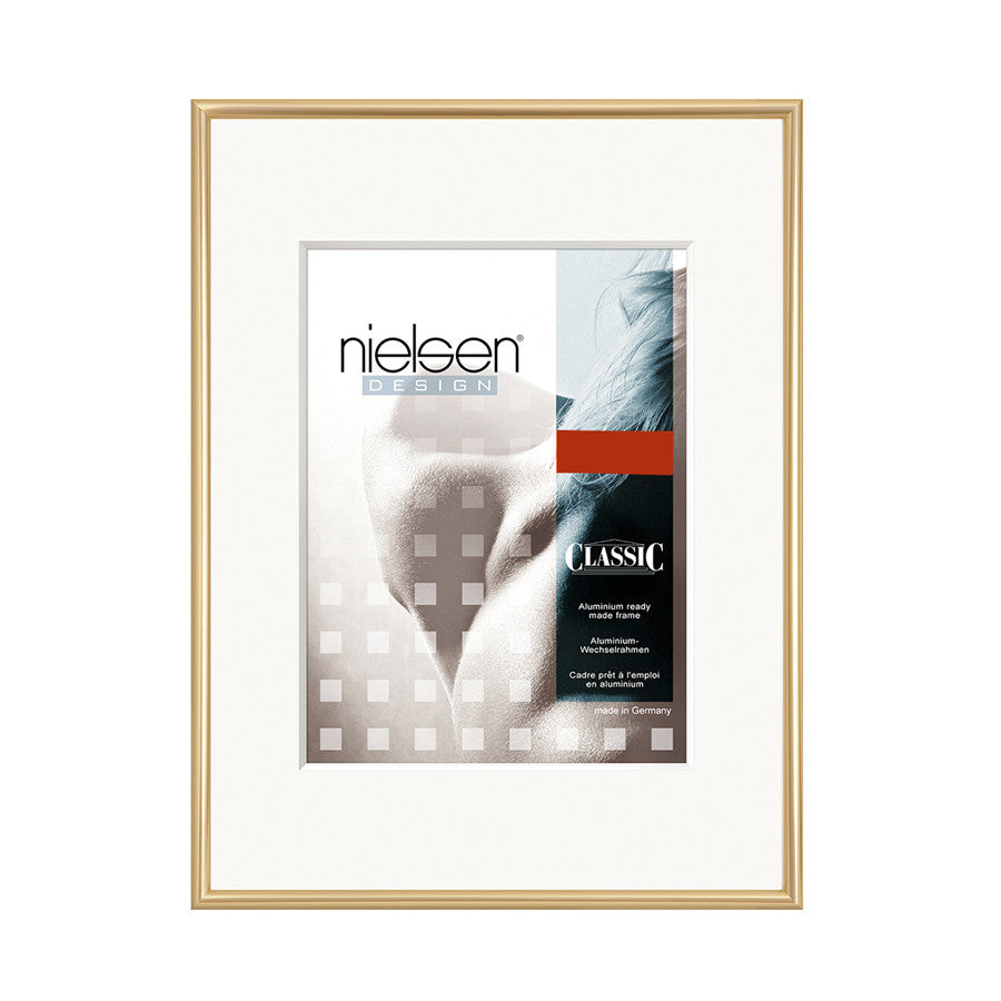Nielsen Classic Aluminium Metal Readymade Frame Polished Gold