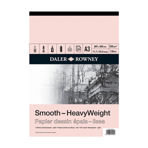 Daler-Rowney Smooth Heavyweight Cartridge 220gsm