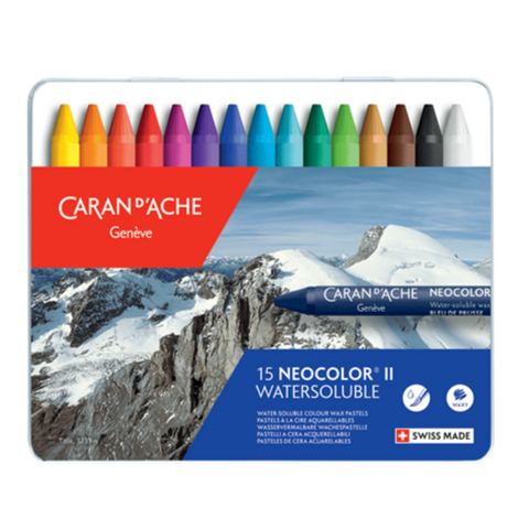 Neocolor II Water-Soluble Crayons Tin