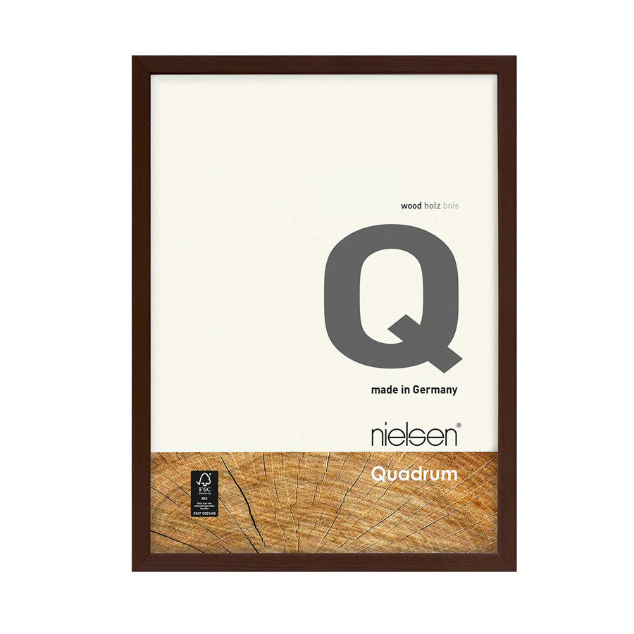 Nielsen Quadram Wood Readymade Frame Dark Brown