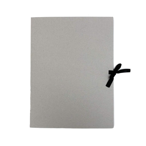 Grey Card Folder with Ribbon
