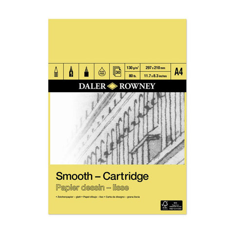 Daler-Rowney Smooth Cartridge Pad 130gsm