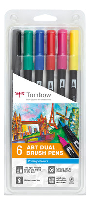 Tombow Abt Brush Pen Set Of 6