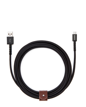 10ft USB to USB-C Black Cable Cables