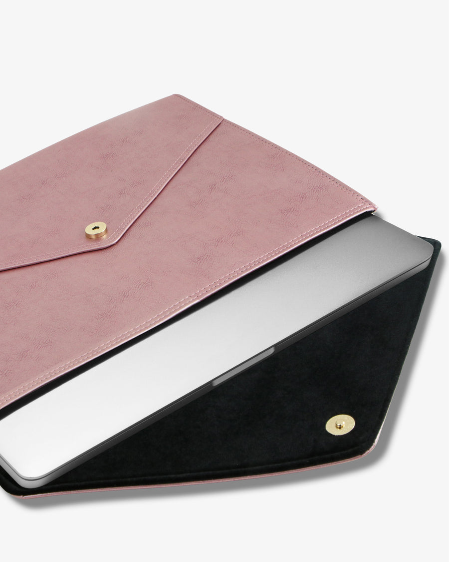 "15"" Laptop Clutch- Barely Pink"