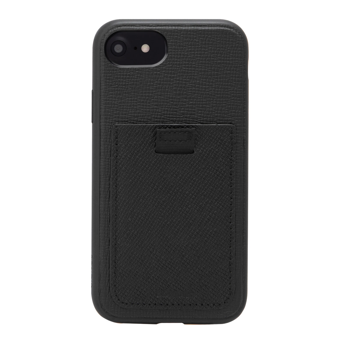 Black Leather Wallet iPhone Case