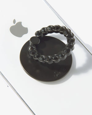 Embellished Rhinestone Ring, Black Phone rings & stands