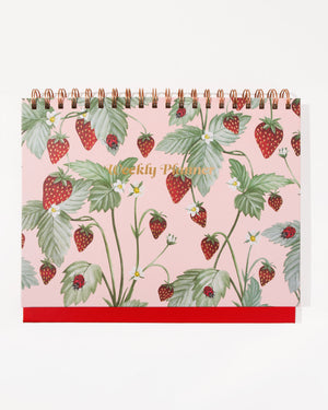 Weekly Desk Planner - Fraise Earthly delights