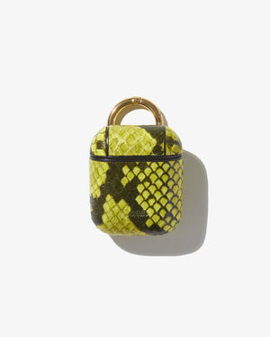 AirPod Case - Neon Green Python Wild child